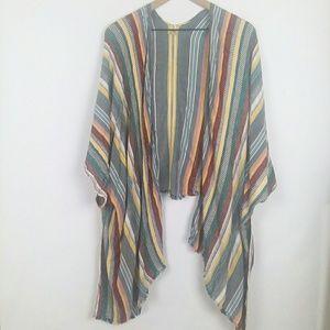 True Craft woven kimono topper